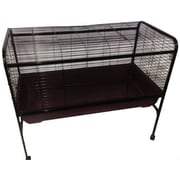 A&E Cage Co. Rabbit & Guinea Pig Cage; Black