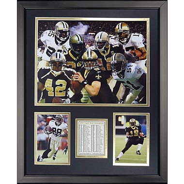 Legends Never Die NFL New Orleans Saints - 2009 Champs Framed Memorabili
