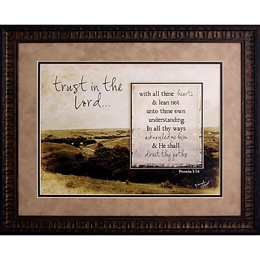 The James Lawrence Company Trust In The Lord Framed Graphic Art