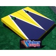Victory Tailgate Matching Triangle Cornhole Bean Bag Toss Game; Navy Blue and Bright Yellow