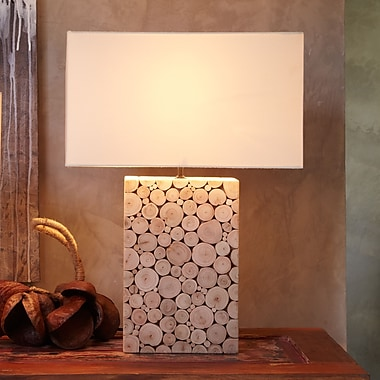 Bellini Modern Living 22'' H Table Lamp with Rectangular Shade