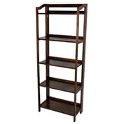 Casual Home Stratford 60.25'' Folding Bookcase; Warm Brown