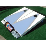 Victory Tailgate Matching Triangle Cornhole Bean Bag Toss Game; Light Blue and White