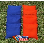 Victory Tailgate Weather Resistant Cornhole Bags (Set of 4); Orange and Royal Blue