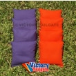 Victory Tailgate Weather Resistant Cornhole Bags (Set of 4); Orange and Purple