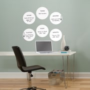 Brewster Home Fashions Ghost Dry Erase Dots Wall Decal (Set of 6)