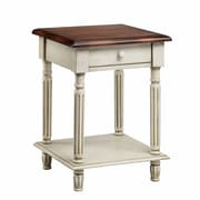 Stein World Emeric 1 Drawer End Table; White Truffle