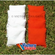 Victory Tailgate Weather Resistant Cornhole Bags (Set of 4); Orange and White