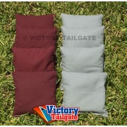 Victory Tailgate Weather Resistant Cornhole Bags (Set of 4); Gray and Burgundy
