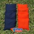 Victory Tailgate Weather Resistant Cornhole Bags (Set of 4); Orange and Navy Blue