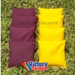 Victory Tailgate Weather Resistant Cornhole Bags (Set of 4); Yellow and Burgundy