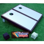 Victory Tailgate Matching Border Cornhole Bean Bag Toss Game; Light Blue and Navy
