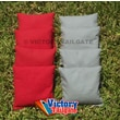 Victory Tailgate Weather Resistant Cornhole Bags (Set of 4); Gray and Red