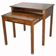 Casual Home Roll Out Writing Desk; Warm Brown