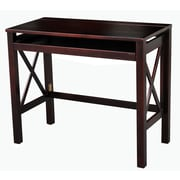 Casual Home Montego Computer Desk with Pull-Out Tray; Espresso