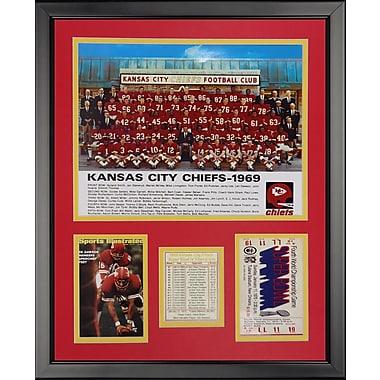 Legends Never Die NFL Kansas City Chiefs - '69 Chiefs Seated Framed Memorabili