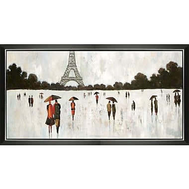 Hobbitholeco. Skating In Paris by Luna Framed Original Painting