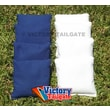 Victory Tailgate Weather Resistant Cornhole Bags (Set of 4); White and Royal Blue
