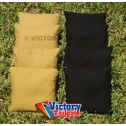 Victory Tailgate Standard Bags; Black and Dark Gold