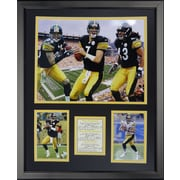 Legends Never Die Pittsburgh Steelers - 2000s Big Three Framed Photo Collage