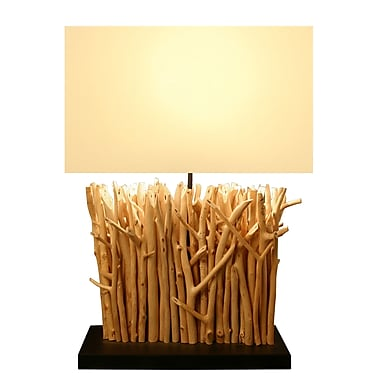 Bellini Modern Living 22'' Twig Table Lamp with Rectangular Shade