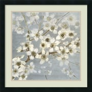 Amanti Art 'Silver Blossoms II' by Elise Remender Framed Painting Print