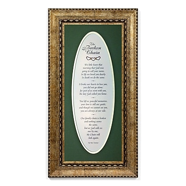 The James Lawrence Company The Broken Chain Framed Textual Art