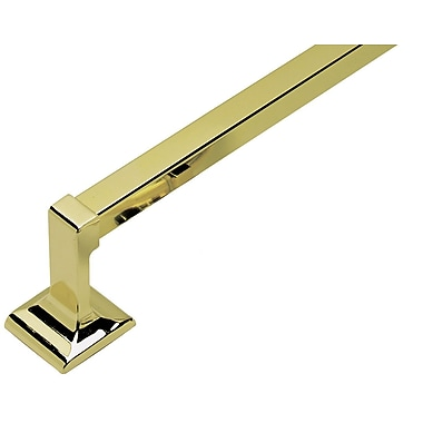 Design House Mill bridge 30'' Wall Mounted Towel Bar; Polished Brass