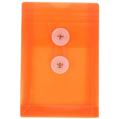 JAM Paper Button & String Plastic Envelope 4.25