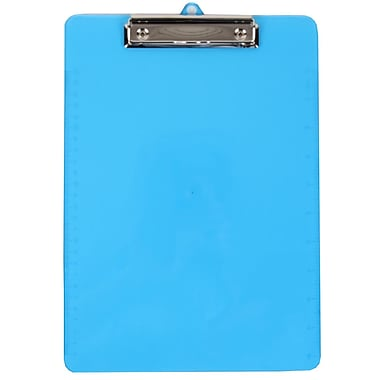 JAM PaperMD – Planchette à pince en plastique, 9 x 13 po, bleu, 12/paquet