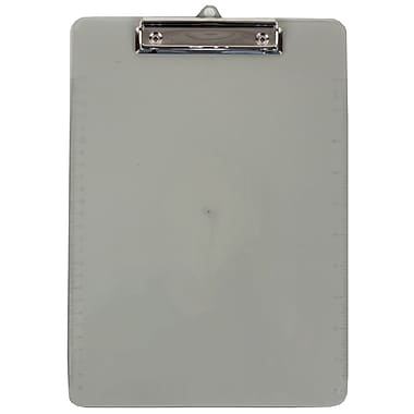JAM Paper® Plastic Clipboards, 9 x 13, Grey, 12/Pack (340926884A)