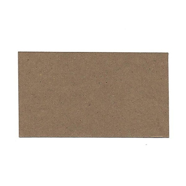 JAM Paper® Blank Note Cards, 3drug size, 2 x 3.5, Brown Kraft, 100/pack (217512693)