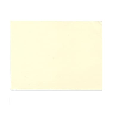 JAM Paper® Blank Note Cards, A6 size, 4.63 x 6.25, Natural White Impact, 100/Pack (48427)