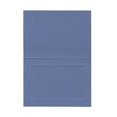 JAM Paper® Blank Foldover Cards, 4bar / A1 size, 3.5 x 4.88, Blue Laid Panel, 100/Pack (309893)
