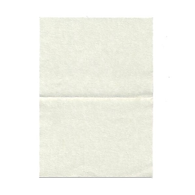 JAM Paper® Blank Foldover Cards, 4bar / A1 size, 3.5 x 4.88, Green Parchment, 100/Pack (309891)