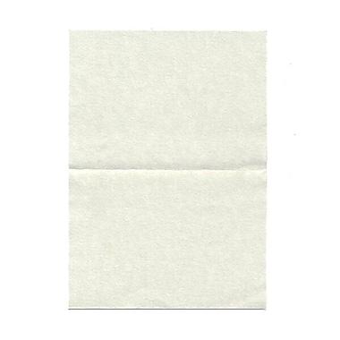 JAM PaperMD – Cartes vierges rabattables en papier-parchemin, vert, 3,5 x 4,87 po, 100/paquet