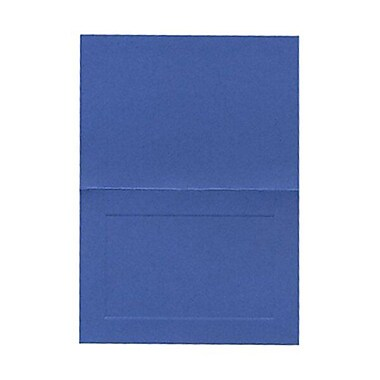 JAM Paper® Blank Foldover Cards, 4bar / A1 size, 3.5 x 4.88, Deep Blue Panel, 100/Pack (3094745)