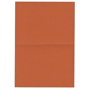 JAM PaperMD – Cartes vierges rabattables, orange foncé, 3,5 x 4,87 po, 500/boîte
