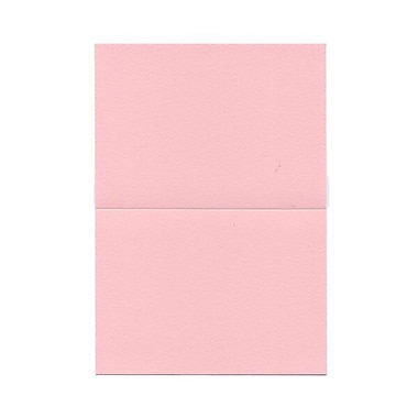 JAM PaperMD – Cartes vierges rabattables, rose pastel, 3,5 x 4,87 po, 100/paquet