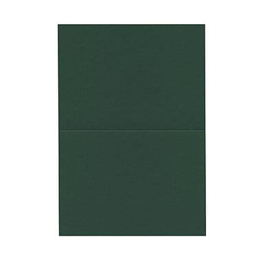 JAM Paper® Blank Foldover Cards, 4bar / A1 size, 3.5 x 4.88, Dark Green, 100/Pack (230913093)