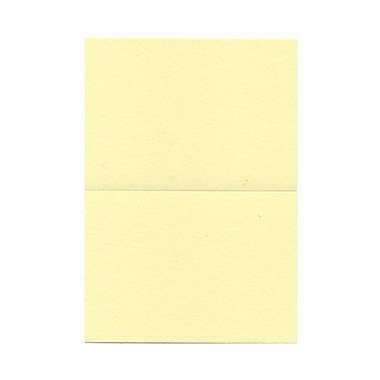 JAM Paper® Blank Foldover Cards, 4bar / A1 size, 3.5 x 4.88, Light Yellow, 100/Pack (230913094)