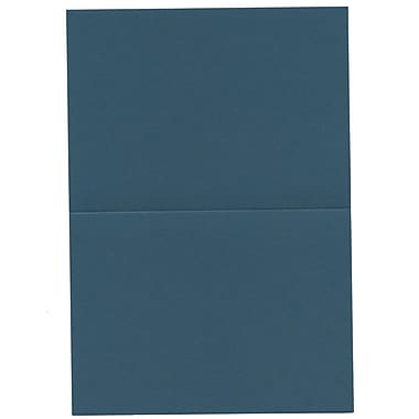 JAM Paper® Blank Foldover Cards, 4bar / A1 size, 3 1/2 x 4 7/8, Teal Blue, 100/pack (230913099)