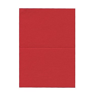 JAM PaperMD – Cartes vierges rabattables, rouge fini lin, 3,5 x 4,87 po, 500/boîte