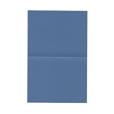 JAM Paper® Blank Foldover Cards, A2 size, 4.25 x 5.5, Curious Metallic Neutron Blue, 50/pack (569312225)