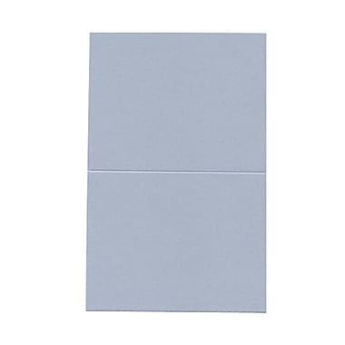 JAM PaperMD – Cartes rabattables, bleu plasma iridescent curieux, 4,25 x 5,5 po, 50/paquet