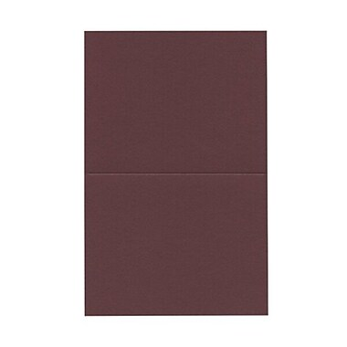 JAM Paper® Blank Foldover Cards, A2 size, 4.38 x 5 7/16, Burgundy, 100/Pack (330913102)