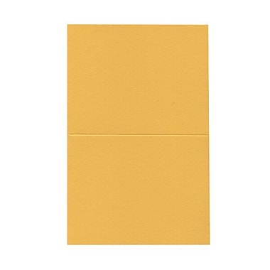 JAM Paper® Blank Foldover Cards, A2 size, 4.38 x 5 7/16, Gold Yellow, 500/Pack (330913107B)