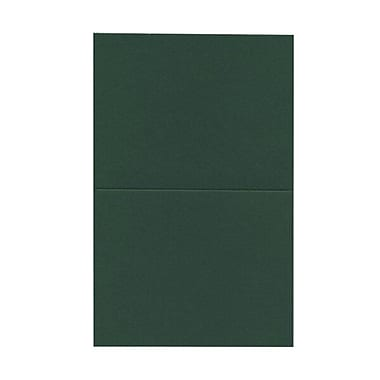 JAM Paper® Blank Foldover Cards, A2 size, 4.38 x 5 7/16, Dark Green, 500/Pack (330913108B)