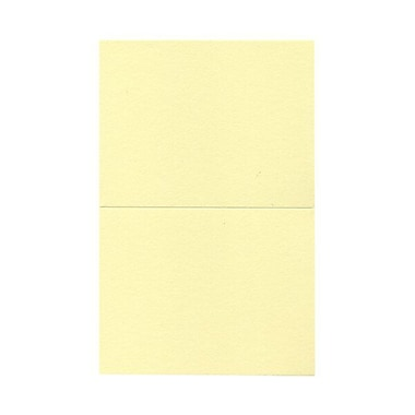 JAM Paper® Blank Foldover Cards, A2 size, 4.38 x 5 7/16, Light Yellow, 500/Pack (330913110B)