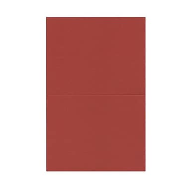 JAM PaperMD – Cartes vierges rabattables, rouge, 4,37 x 5,43 po, 100/paquet